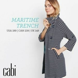 Cabi | XL | maritime striped trench coat